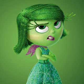 Disgust from Inside Out Cartoon - Obrázkek zdarma pro iPad mini