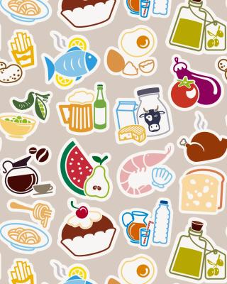 Food Texture - Obrázkek zdarma pro iPhone 5