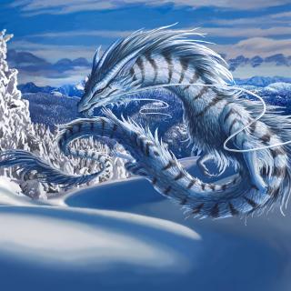 Winter Dragon - Obrázkek zdarma pro iPad Air