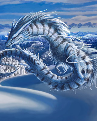 Winter Dragon - Fondos de pantalla gratis para LG T325 Cookie