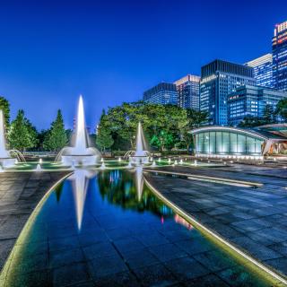 Wadakura Fountain Park in Tokyo - Obrázkek zdarma pro 208x208