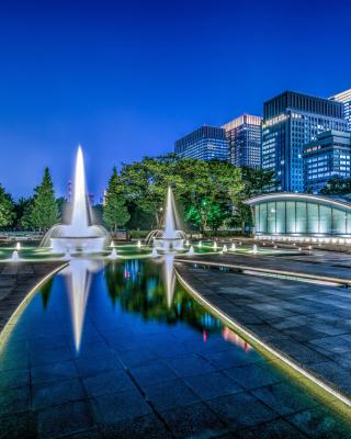 Wadakura Fountain Park in Tokyo - Obrázkek zdarma pro Nokia Lumia 800