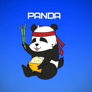 Cool Panda Illustration - Obrázkek zdarma pro 2048x2048