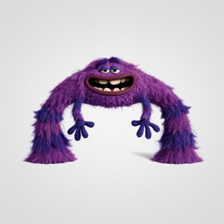 Monsters University, Art, Purple Furry Monster - Obrázkek zdarma pro iPad