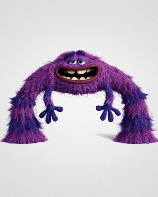 Monsters University, Art, Purple Furry Monster - Obrázkek zdarma pro 480x640