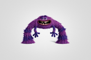 Monsters University, Art, Purple Furry Monster - Obrázkek zdarma pro 1024x600