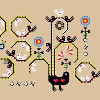 Embroidery and Pattern - Obrázkek zdarma pro iPad 2