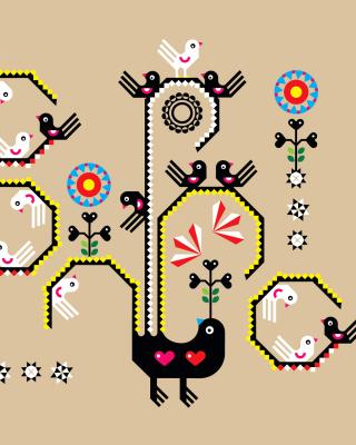 Embroidery and Pattern - Obrázkek zdarma pro 128x160