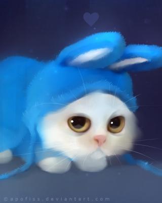 Cute Bunny Illustration - Obrázkek zdarma pro Nokia C5-03
