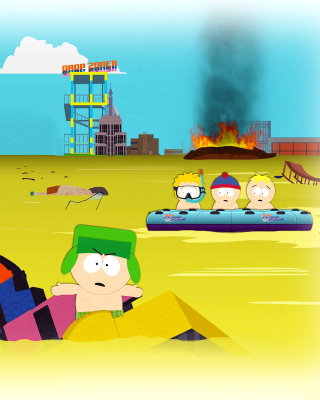 South Park, Stan, Kyle, Eric Cartman, Kenny McCormick - Obrázkek zdarma pro Nokia 206 Asha
