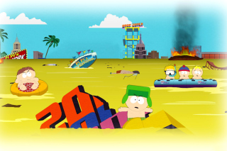 South Park, Stan, Kyle, Eric Cartman, Kenny McCormick Background for Sony Ericsson XPERIA X8