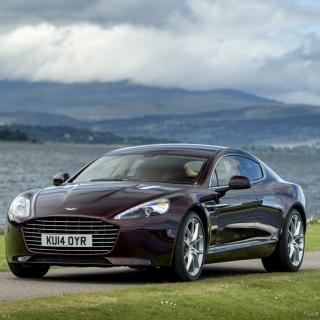 Aston Martin Rapide S on Coast - Obrázkek zdarma pro iPad