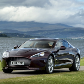 Aston Martin Rapide S on Coast - Obrázkek zdarma pro iPad Air
