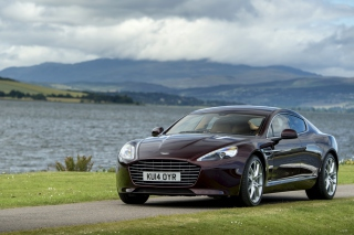 Aston Martin Rapide S on Coast - Obrázkek zdarma pro LG P700 Optimus L7