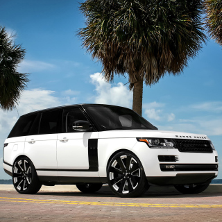Range Rover White - Obrázkek zdarma pro iPad mini 2