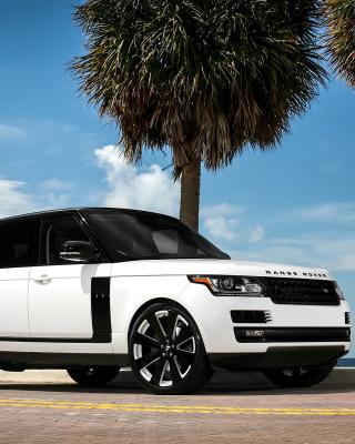 Range Rover White - Obrázkek zdarma pro Nokia 300 Asha