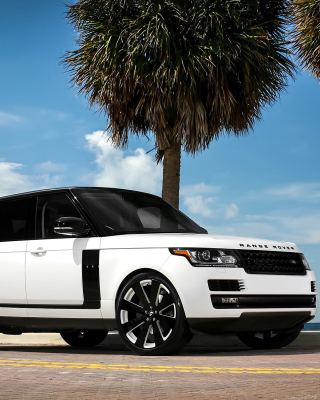Range Rover White - Obrázkek zdarma pro 128x160
