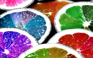 Rainbow Limes Picture for Android, iPhone and iPad
