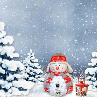 Frosty Snowman for Xmas - Obrázkek zdarma pro 128x128