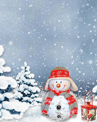 Frosty Snowman for Xmas - Obrázkek zdarma pro 240x320