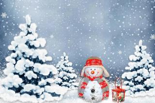 Frosty Snowman for Xmas - Obrázkek zdarma pro 1200x1024