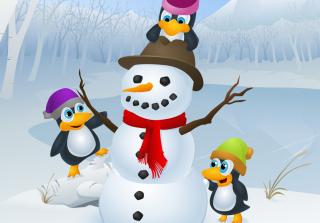 Snowman and Penguin - Obrázkek zdarma pro 1280x960