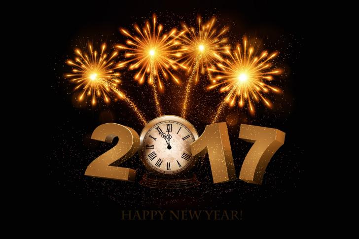 2017 New Year fireworks wallpaper