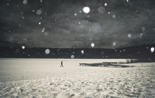 Alone Winter Background for Android, iPhone and iPad