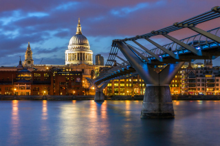 Millennium Bridge, St Paul's Cathedral Wallpaper for Android, iPhone and iPad
