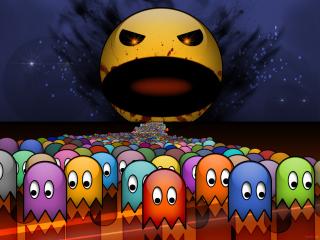 Pacman - Obrázkek zdarma pro 480x400