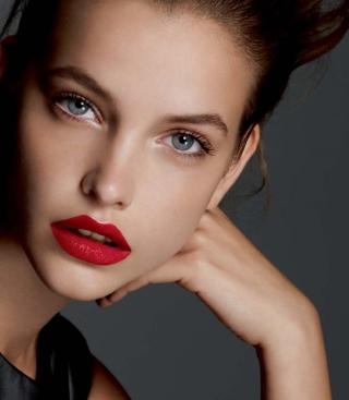 Barbara Palvin Red Lipstick - Obrázkek zdarma pro 360x640