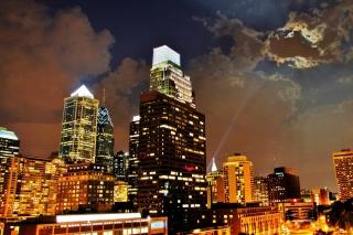 Philadelphia Night Skyline in USA - Fondos de pantalla gratis para Widescreen Desktop PC 1920x1080 Full HD
