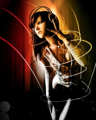 Music Girl - Obrázkek zdarma pro Nokia 206 Asha