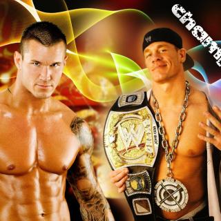 John Cena vs Randy Orton - Obrázkek zdarma pro iPad Air