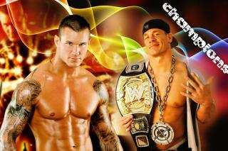 John Cena vs Randy Orton - Obrázkek zdarma pro Nokia Asha 205
