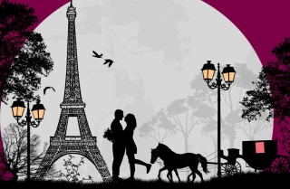 Paris City Of Love Background for Android, iPhone and iPad