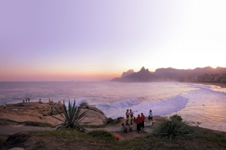Rio Sunset Background for Android, iPhone and iPad