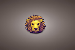 Lion Muzzle Illustration Wallpaper for Android, iPhone and iPad