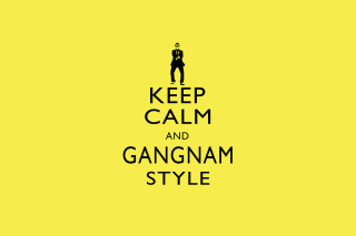 Free Keep Calm And Gangnam Style Picture for Android, iPhone and iPad