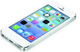 White Iphone5 Ios7 Wallpaper for Android, iPhone and iPad