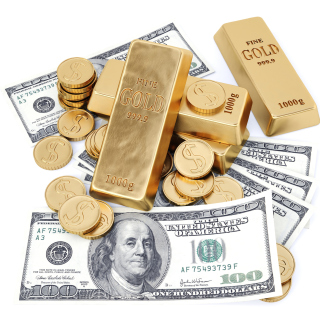 Money And Gold - Obrázkek zdarma pro iPad