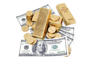 Money And Gold Background for Android, iPhone and iPad