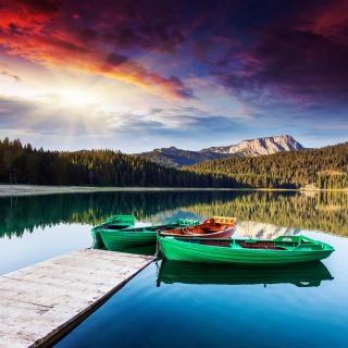 Mountain Lake HDR - Obrázkek zdarma pro 320x320