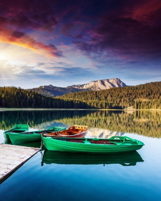 Mountain Lake HDR - Obrázkek zdarma pro 320x480