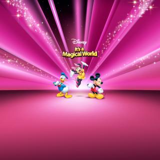 Disney Characters Pink Wallpaper - Obrázkek zdarma pro 128x128