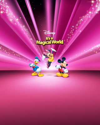 Disney Characters Pink Wallpaper - Obrázkek zdarma pro Nokia Lumia 810