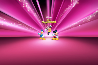 Disney Characters Pink Wallpaper - Obrázkek zdarma pro Nokia Asha 302