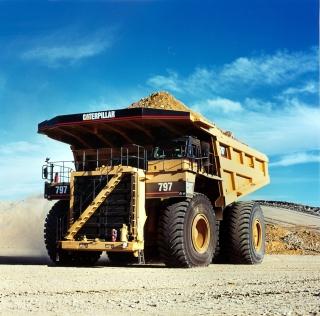 Caterpillar - Dump Truck - Obrázkek zdarma pro iPad 2