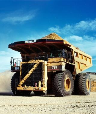 Caterpillar - Dump Truck - Obrázkek zdarma pro 360x400