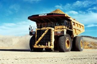 Caterpillar - Dump Truck - Obrázkek zdarma pro HTC Desire